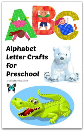 Kids alphabet crafts you will love! #preschool