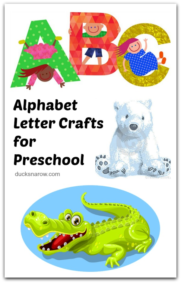 Crafts for every letter of the alphabet for #preschool