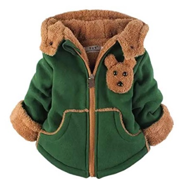 Cute green baby coat with fuzzy collar #ad