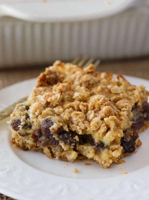 Sour cream raisin bars by simply stacie