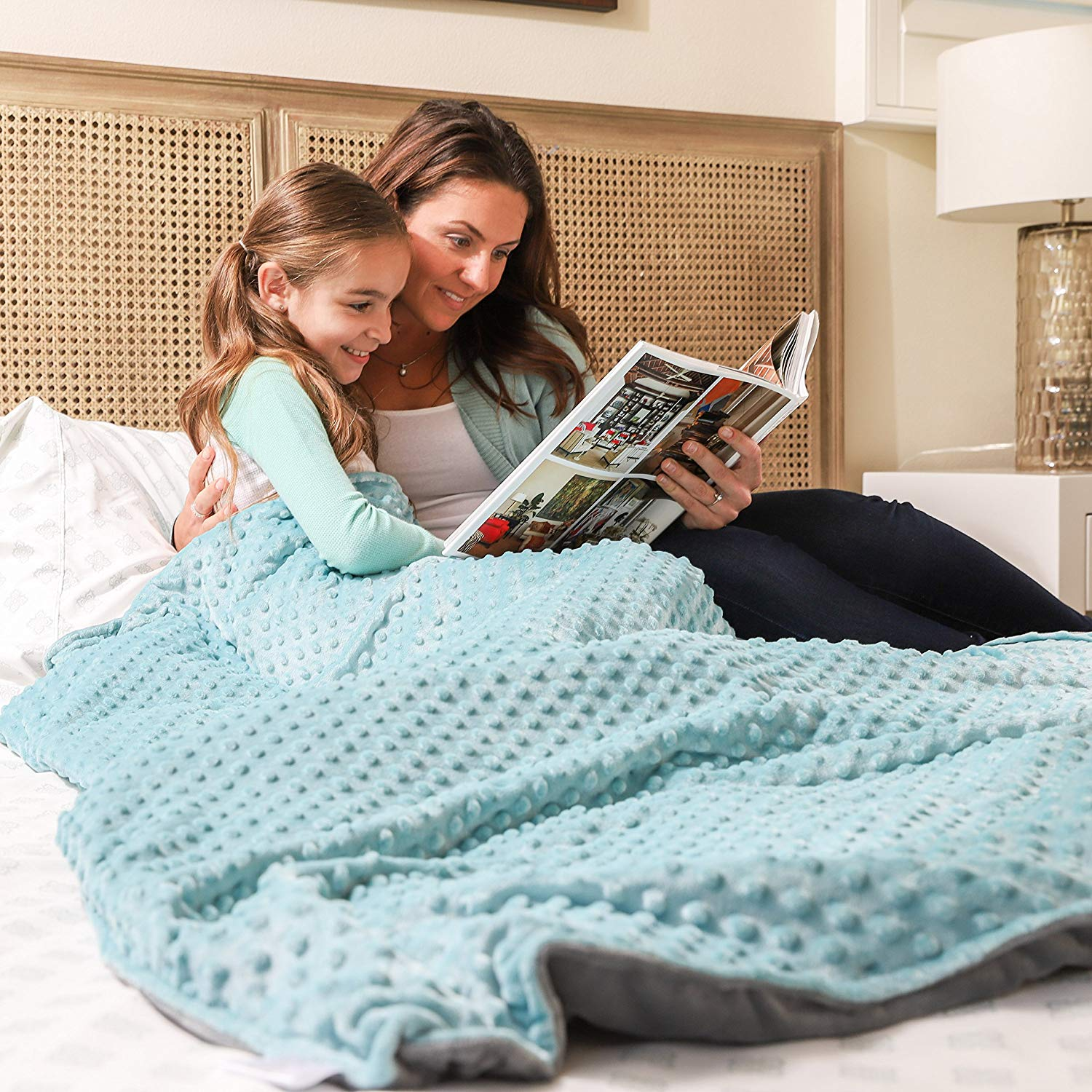 Weighted blanket for stress relief, anxiety and a great night's sleep #ad