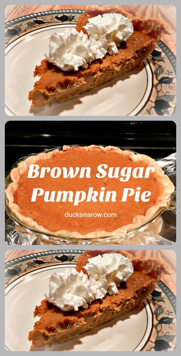 Brown sugar pumpkin pie #recipe