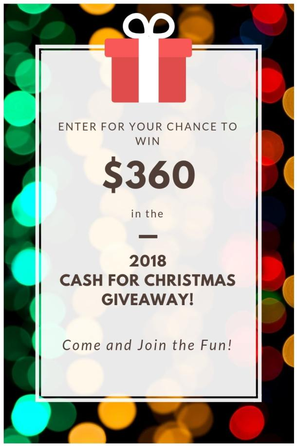 Cash for Christmas holiday giveaway #sweepstakes