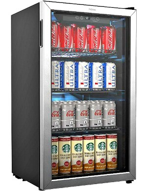 Mini fridge with glass door #ad