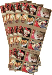 Forever Christmas Santa Postage Stamps #ad