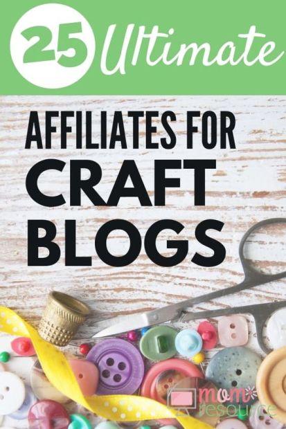 Craft blog affiliate programs