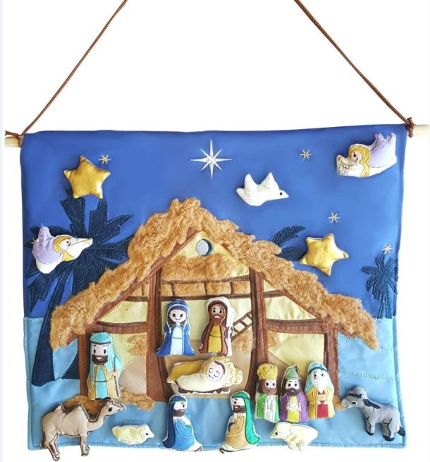 Interactive Wall Hanging Nativity Scene #ad