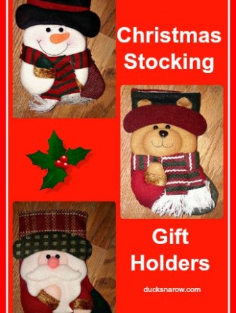 Christmas Stocking Gift Holder #giftideas