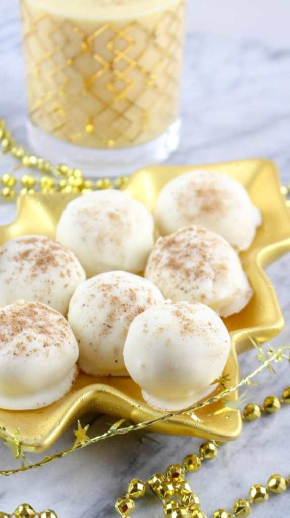 egg nog truffles
