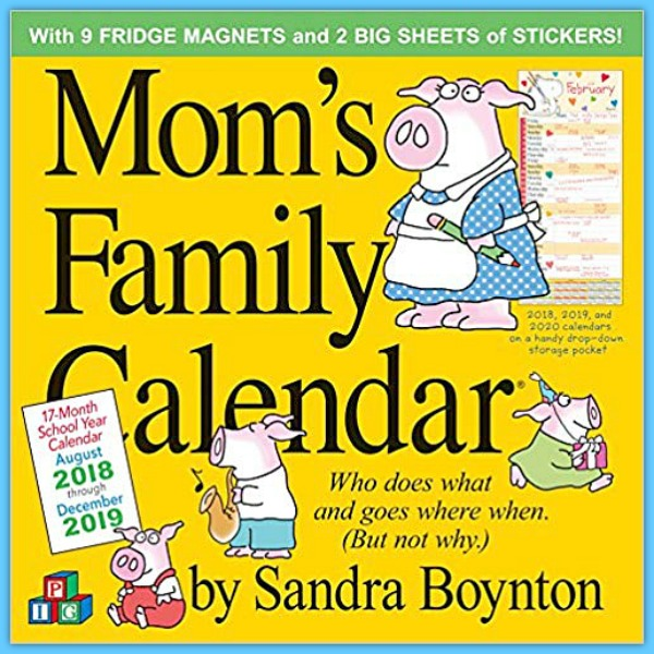 Family calendar for moms - and dad's! #ad