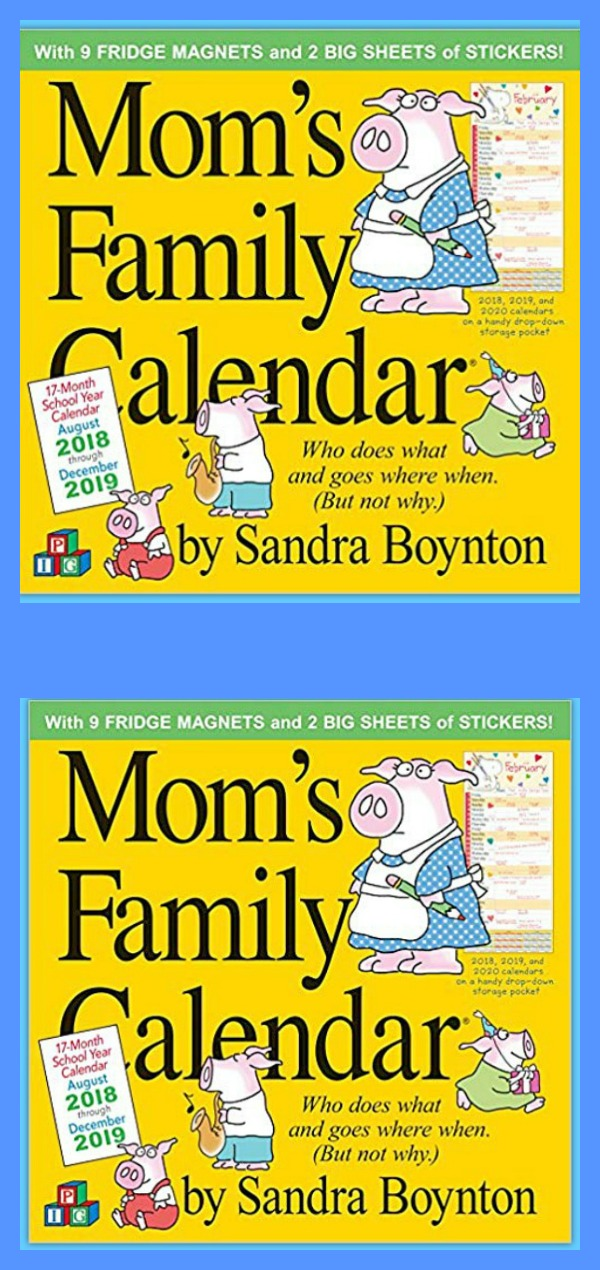 Fun family calendars for moms #tips