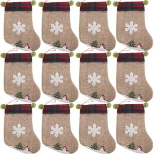 Burlap Christmas stockings #affiliate