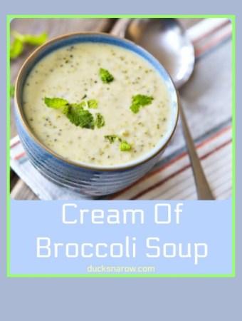 Delicious cream of broccoli soup