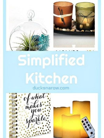 Simplify your kitchen decor #clutter #tips