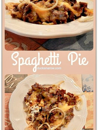 Spaghetti Pie Casserole #comfortfood
