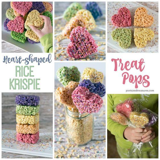 Valentine Rice Krispies treats #ValentinesDay
