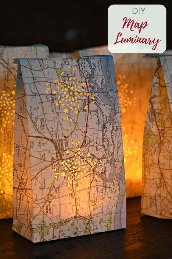 Luminary map bags by pillarbox blue