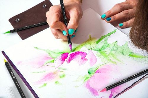 REAL BRUSH Watercolor pens #ad