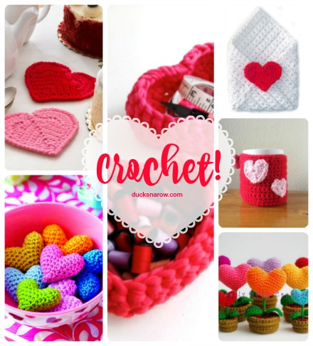 Crocheted hearts with patterns to make them yourself #ValentinesDay #crochet #DIY