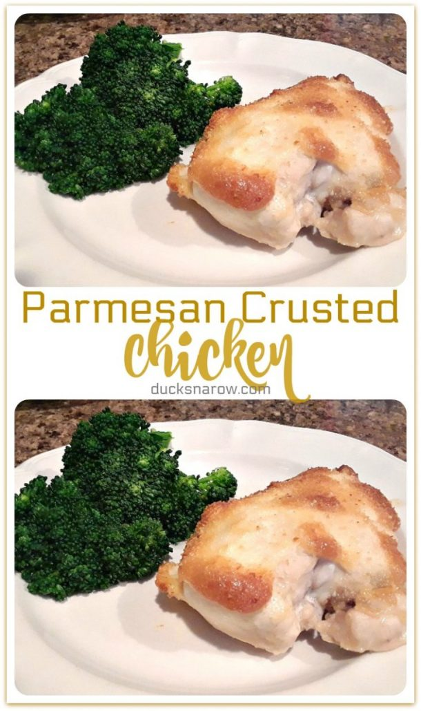 Parmesan Crusted Chicken is the easiest recipe to make, super-star flavor and low low carb, too! #recipes #lowcarb