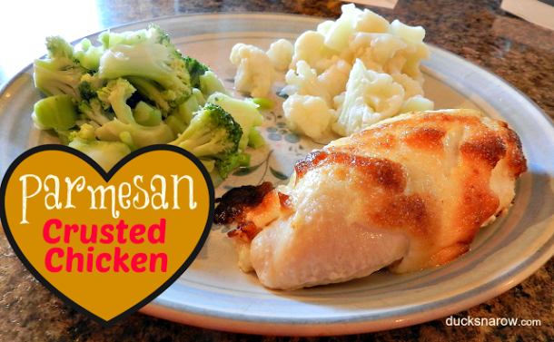 Great low carb dinner featuring Parmesan Crusted Chicken #lowcarb #recipes