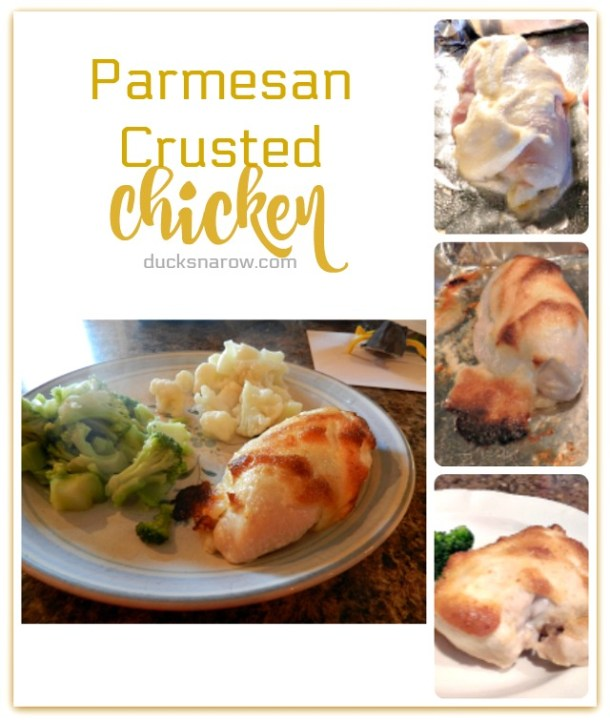 Parmesan crusted chicken is a totally low carb dinner that the whole family will love #lowcarb #recipes