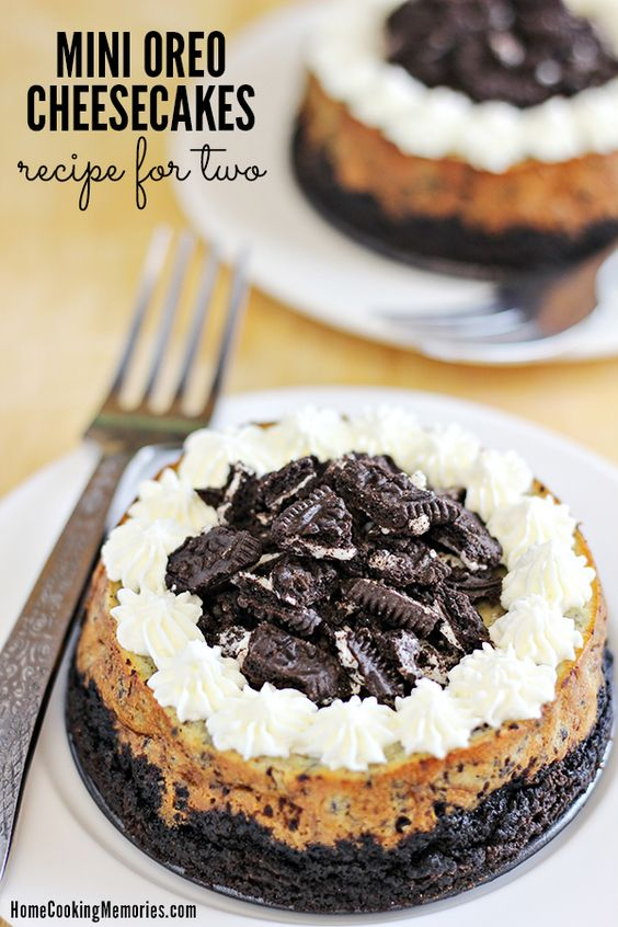 Mini oreo cheesecakes #recipes