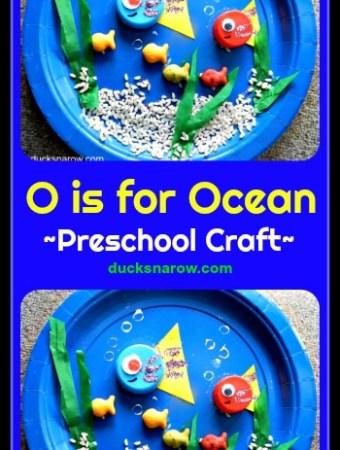 O is for Ocean paper plate craft for preschoolers #preschool #kidscrafts