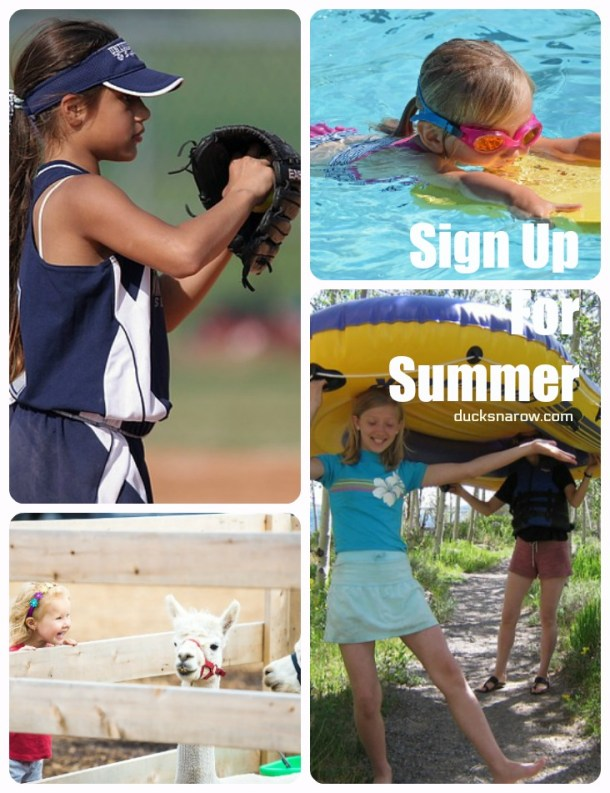 Remember to sign your kids up for summer activities before school comes to an end #tips