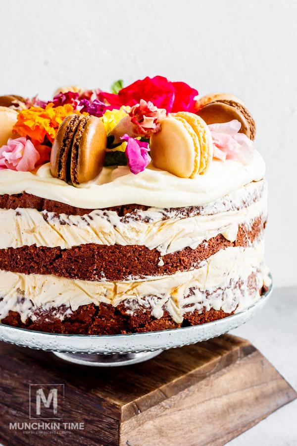 Super easy chocolate ice cream cake #recipe