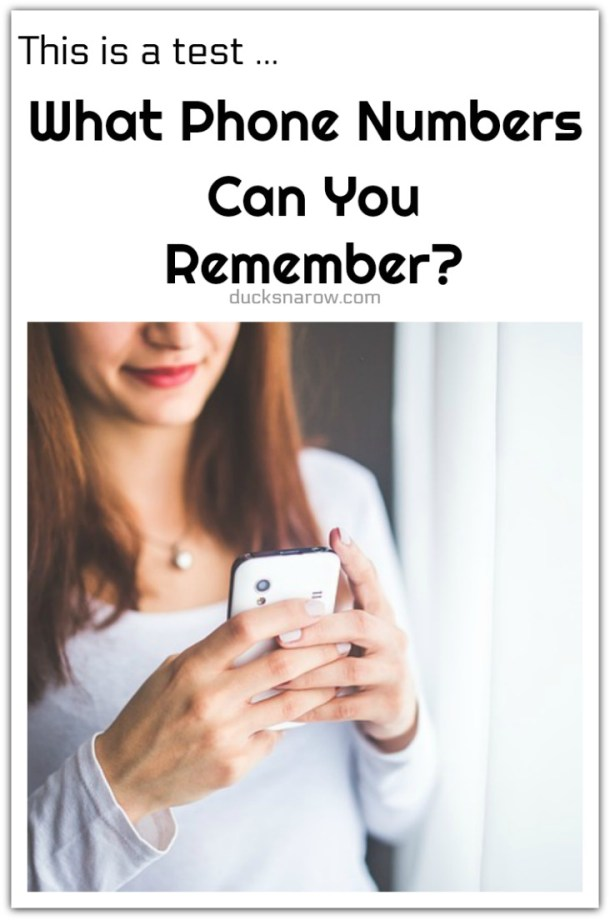 Remembering phone numbers #tips