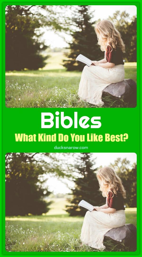 Bibles - which kind do you like? #faith