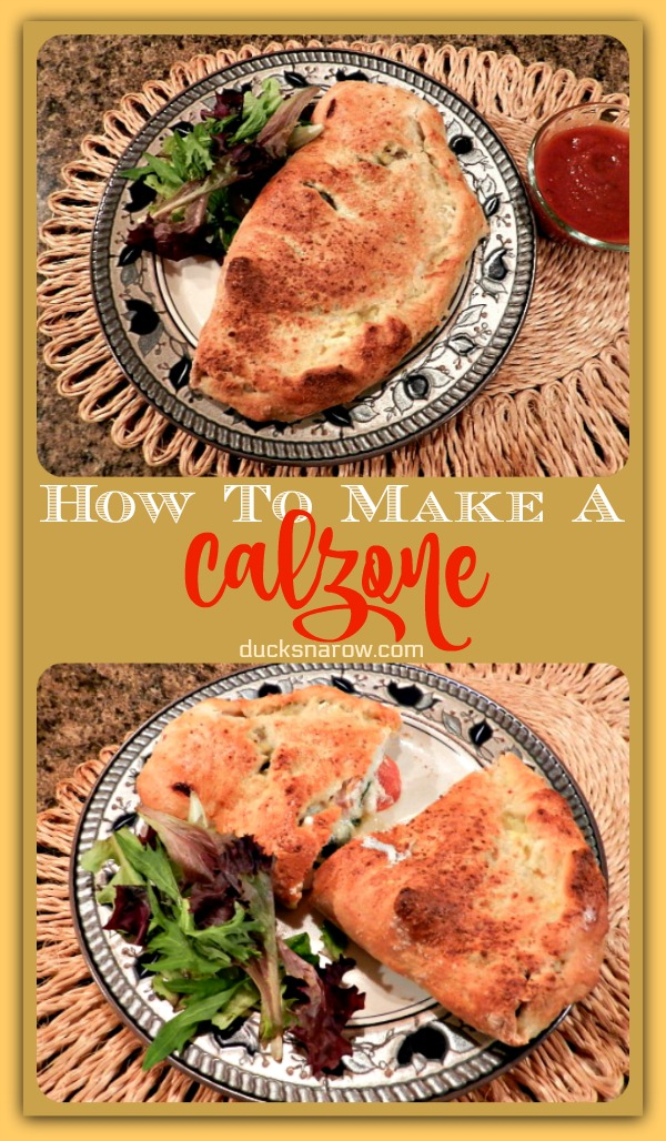 How to make a calzone #recipes