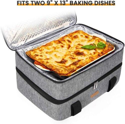 Double decker casserole carrier