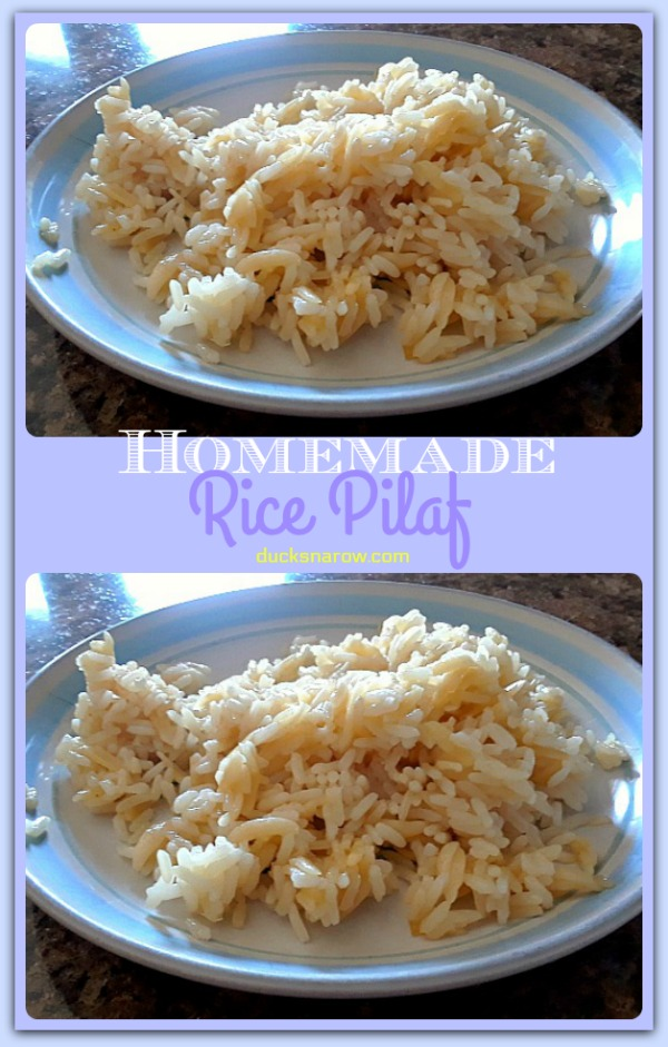 Easy recipe for homemade rice pilaf #recipes #sidedishes