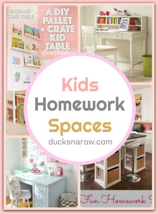 School is a kid's job - make a homework space for yours where they will love to be! #homedecor