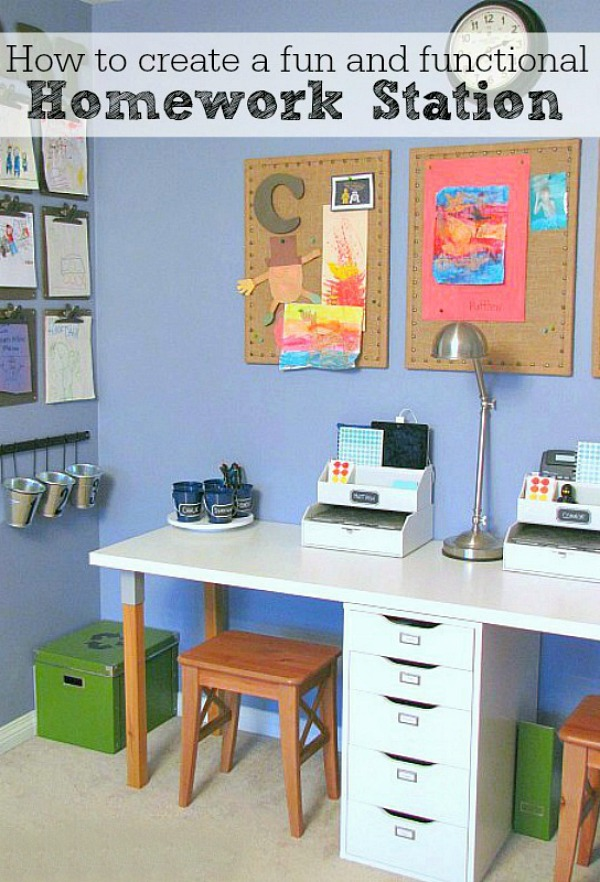 Kids homework station #homedecor