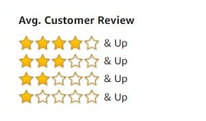 Average Customer Review stars