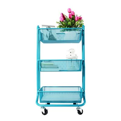 Trendy 3-tier turquoise utility cart #ad #decor