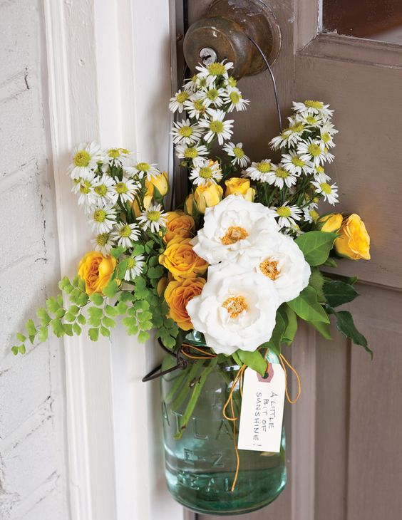 DIY door gifts for spring