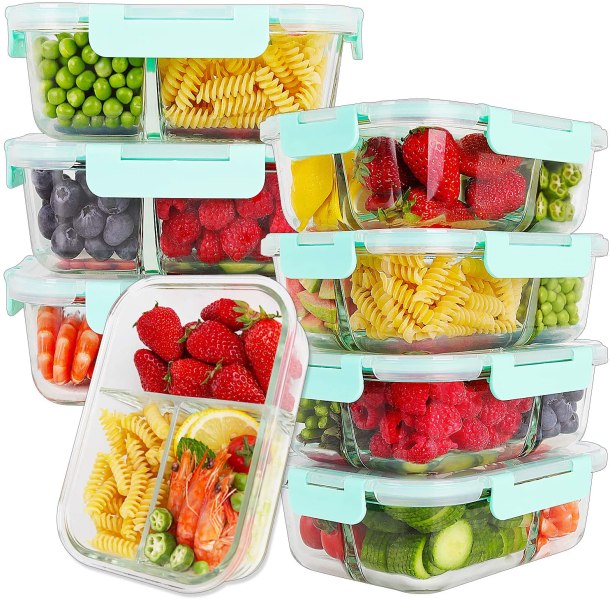 Glass meal prep containers #ad #cooking