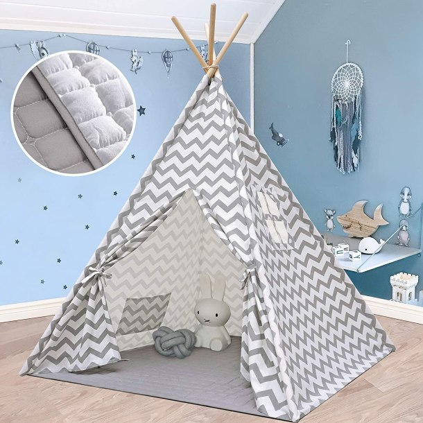 Teepee indoor play tent for kids #ad