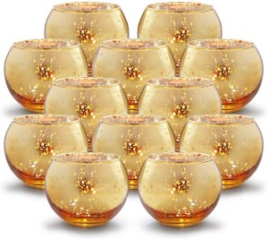 Gold glass votives #ad