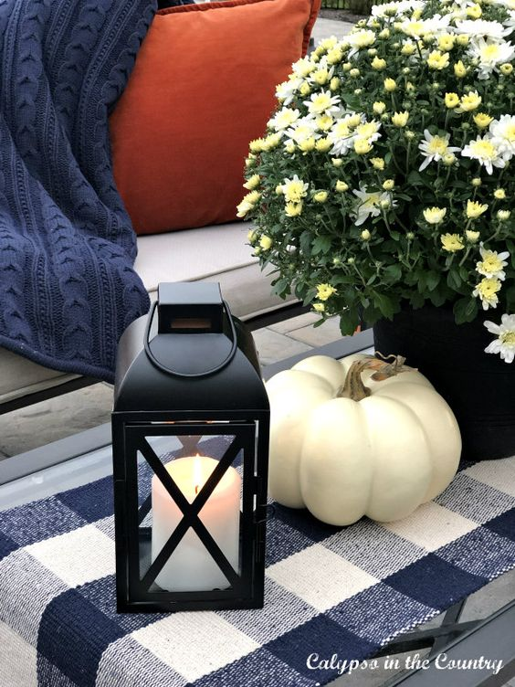 Outdoor pumpkin decor