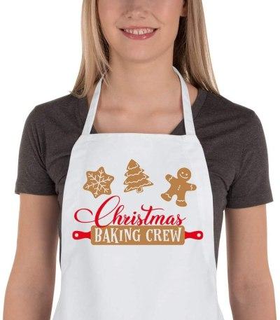 Christmas Baking Crew apron #ad