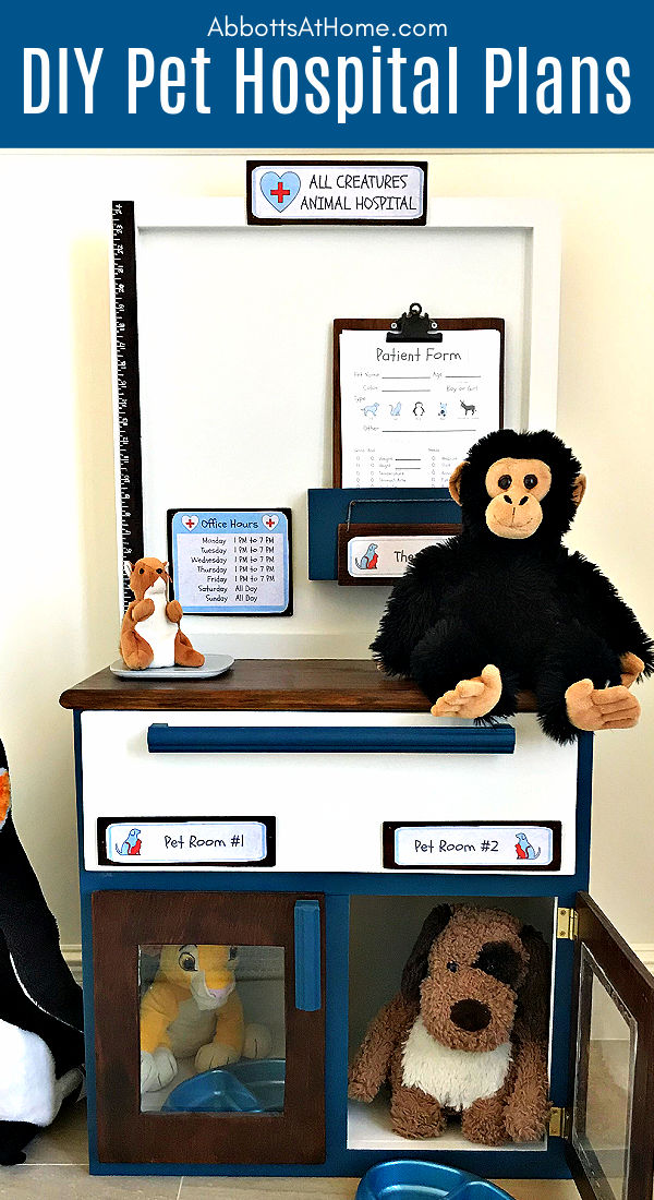 DIY Animal Hospital Play Station for Kids from Abbotts at Home