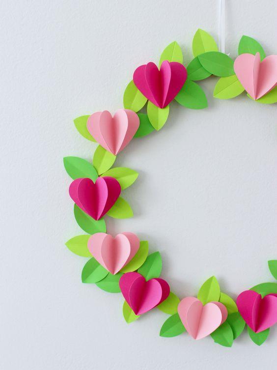 3D Heart Valentine Wreath