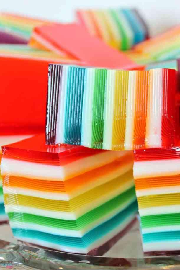 Rainbow JellO recipe with instructions