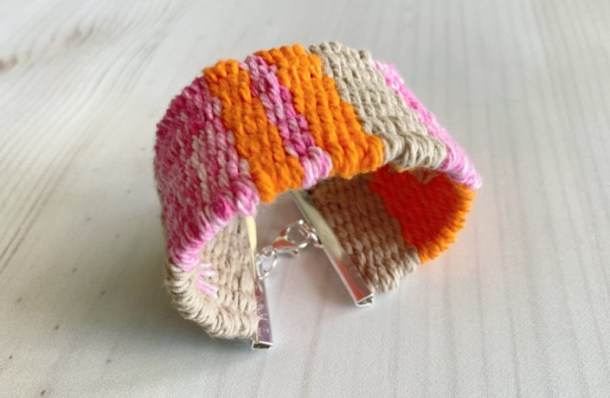 DIY woven cuff bracelet from My French Twist blog