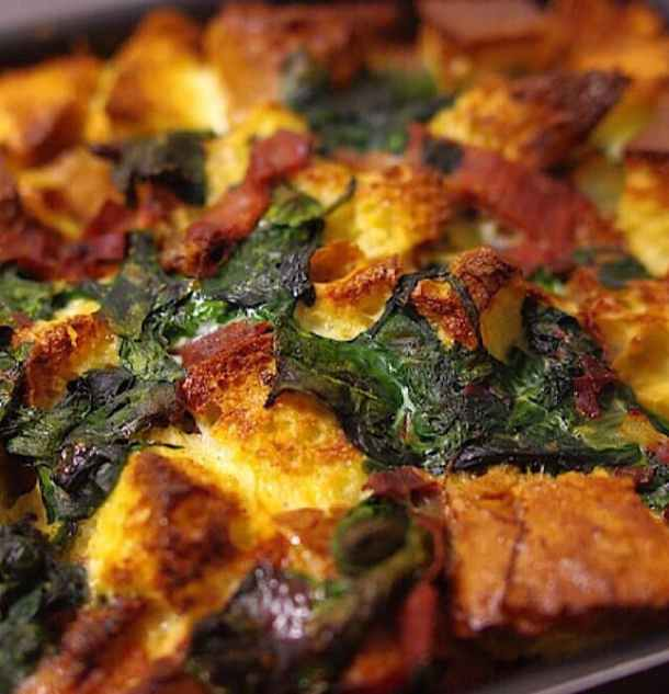 Turkey Ham and Cheese Strata